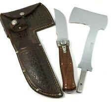 1927-1930 Ka-bar Hatchet Knife Combo Wood Handles Kabar + Sheath 4231-MRX