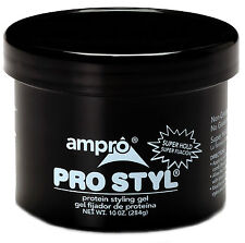 Ampro Pro Styl Protein Styling Hair Gel Super Hold Alcohol-Free Non-Greasy 10oz
