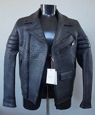 BALLY Black Mens Leather Motorcycle Biker Jacket