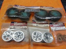 TEAM ASSOCIATED RC10 DS DUAL SPORT WHEELS AND TIRES  NEW FRONT AND BACK ORIGINAL