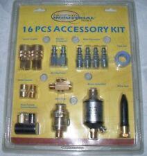 16 PC AIR TOOL ACCESSORY KIT, Air Regulator, Water Seperator, Swivel & Much More
