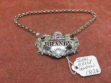 A Superb Victorian S/Silver Rococo Brandy Decanter Label John Reily London 1824