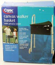 Carex Black Canvas Walker Basket Walker Storage Fits Most Walkers Privacy Cover
