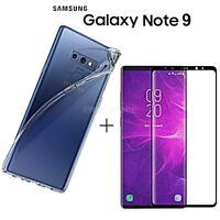 COVER per Samsung Galaxy Note 9 CUSTODIA + PELLICOLA VETRO TEMPERATO 3D CURVO