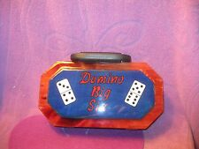 DOMINO GAME BOX--BLUE