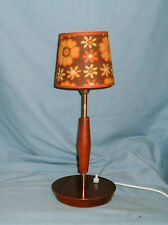 1960s - MCM -TEAK AND BRASS LAMP BASE - REWIRED