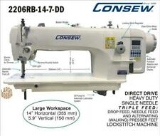 Consew Direct Drive, Heavy Duty,TRIPLE FEED Drop Feed, WALKING FOOT SEWING MACH