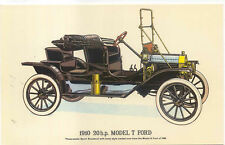 1910 20 HP Ford Model T Modern Postcard by Collectors Reproductions