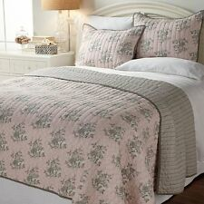 India Hicks King Garden Grove 3-piece Quilt Set - Pink Brand New