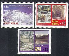 Nepal 2000 montañas/Naturaleza/Turismo/Annapurna/glaciar/Lago/Templo 3v Set n37212