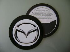 Magnetic Tax disc holder fits any mazda rx-8 mx-3 mazda 2 3 5 6 white a
