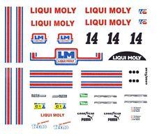 #14 LIQUI MOLY 956/962 PORSCHE 1/64th HO Scale Slot Car Decal