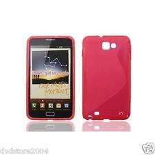 Pellicola + Custodia cover WAVE ROSSO per Samsung Galaxy Note N7000 I9220 (B4)
