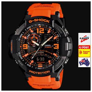 Casio G-Shock Gravitymaster Analogue Digital Mens Black Orange GA-1000-4A