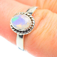 Ethiopian Opal 925 Sterling Silver Ring Size 7.5 Ana Co Jewelry R52512F