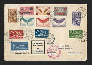 ZEPPELIN SWITZERLAND TO BRAZIL AIRMAIL COVER 1930