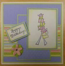 Lady avec colis cadeaux Shopping Mimi Rubber Stamp-bois monté
