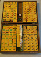 Set Mahjong VINTAGE CINESE IN BACHELITE fenolica Catalin Butterscotch 156 Piastrelle