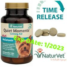 🐶NaturVet QUIET MOMENTS CALMING AID DOG Stress Relief Tablet 30 Tablets . 🐶