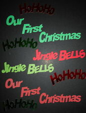 Xmas Die-cuts *OUR FIRST CHRISTMAS  *JINGLE BELLS  *HO HO HO*