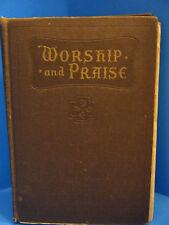 "Vintage 1932 Worship and Praise Hymnal  8"" X 5.5"""