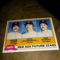 1981 Topps #689 Boston Red Sox Future Stars Bruce Hurst RC NM-MT