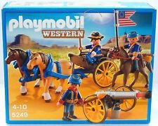 Playmobil Western 5249 - soldats Américains attelage et Canon