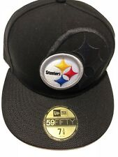 2016 New Era NFL Pittsburgh Steelers Low Profile Fitted 59 Fifty Hat 7 3/8