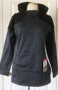 $99 NWT Womens The North Face Dynamix Training Fleece Hoodie Asphalt Gray Black