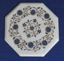 """12"""" Marble Inlaid Mosaic Table Top coffee Corner Living Room Decor Arts Gifts"""