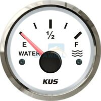 KUS Boat Water Level Gauge RV Truck Water Tank Level Indicator 52mm 0-190 ohms