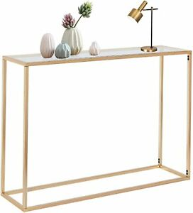 Console Table Modern Narrow Glass Console Tables Hallway Entryway Sofa Tables