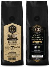 BCC Roasted Peaberry Coffee Bean + BCC Roasted Premium Blend C.Bean (500gm/pack)