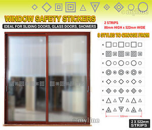 Frosted etch vinyl safety window door film 015 select design 2x 522mm strips