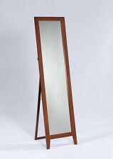 Kings Brand Furniture - Brown Finish Wood Frame Floor Standing Mirror