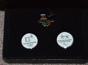 2018 South Korea Pyeongchang Winter Olympics Pin Set and Box