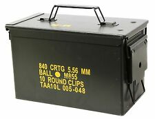 Olive Drab Military Surplus Steel .50 Cal Ammunitions Can OD Green Ammo Can Case