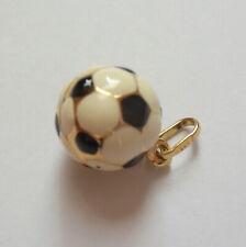 Football Pendant Multi Colour Football Black And White Gold 9ct Unisex Jewellery