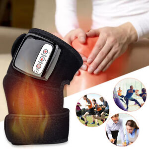 Knee Joint Massager Heat Physiotherapy Therapy Pain Relief Vibration Machine UK