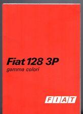 FIAT 128 3P BERLINETTA colori esterno 1975-76 mercato britannico BROCHURE multilingue