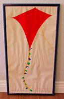 Vtg Framed ArtExpo 1983 Mickey Myers Signed 18x35 Crayola Kite Art Print Poster
