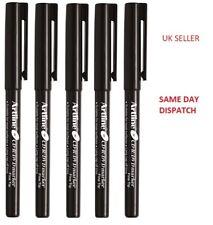 5 X FINE TIP Artline PERMANENT MARKER PENS BLACK CD / DVD Pen Marker Best Price