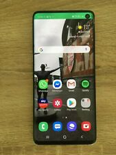 Samsung Galaxy S10 -128GB - Prism White (Unlocked) crack screen but full working