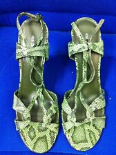 Ladies green snakeskin effect slingback sandals by Next size 6