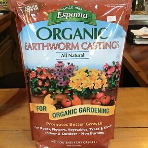 (2) 4qt bags of Espoma Organic Earthworm Castings Fertilizer