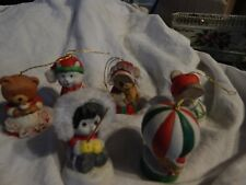 "Lot of 6 Vintage Jasco & Boa ""Critter Bells"" Bisque Porcelain /free shipping"