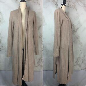 Barefoot Dreams CozyChicLite Knit Cali Cardi Cardigan Sweater Blush Tan SZ  M