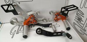 Giamoto Honda Fireblade Rearset Kit  in Repsol Colours - NEW AND BOXED