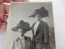 More details for edwardian girls real people in big glam hats  !  postcard portrait