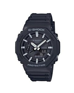 Casio G-Shock Digital GA2100-1A Watch Analogue Black Carbon Core Guard GA2100